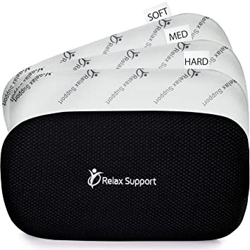 Lumbar Support Pillow Back Support Pillow RS5 Relax Support - Back Support Cushion Foam Posture Corrector for Car Office Plane - Only Back Pillow ...