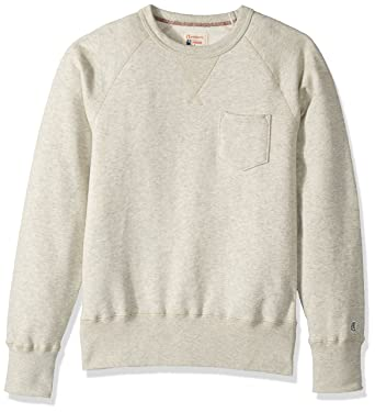 4e0f10a0 Todd Snyder + Champion mens Sweatshirt Pocket Sweatshirt - white -: Amazon. co.uk: Clothing