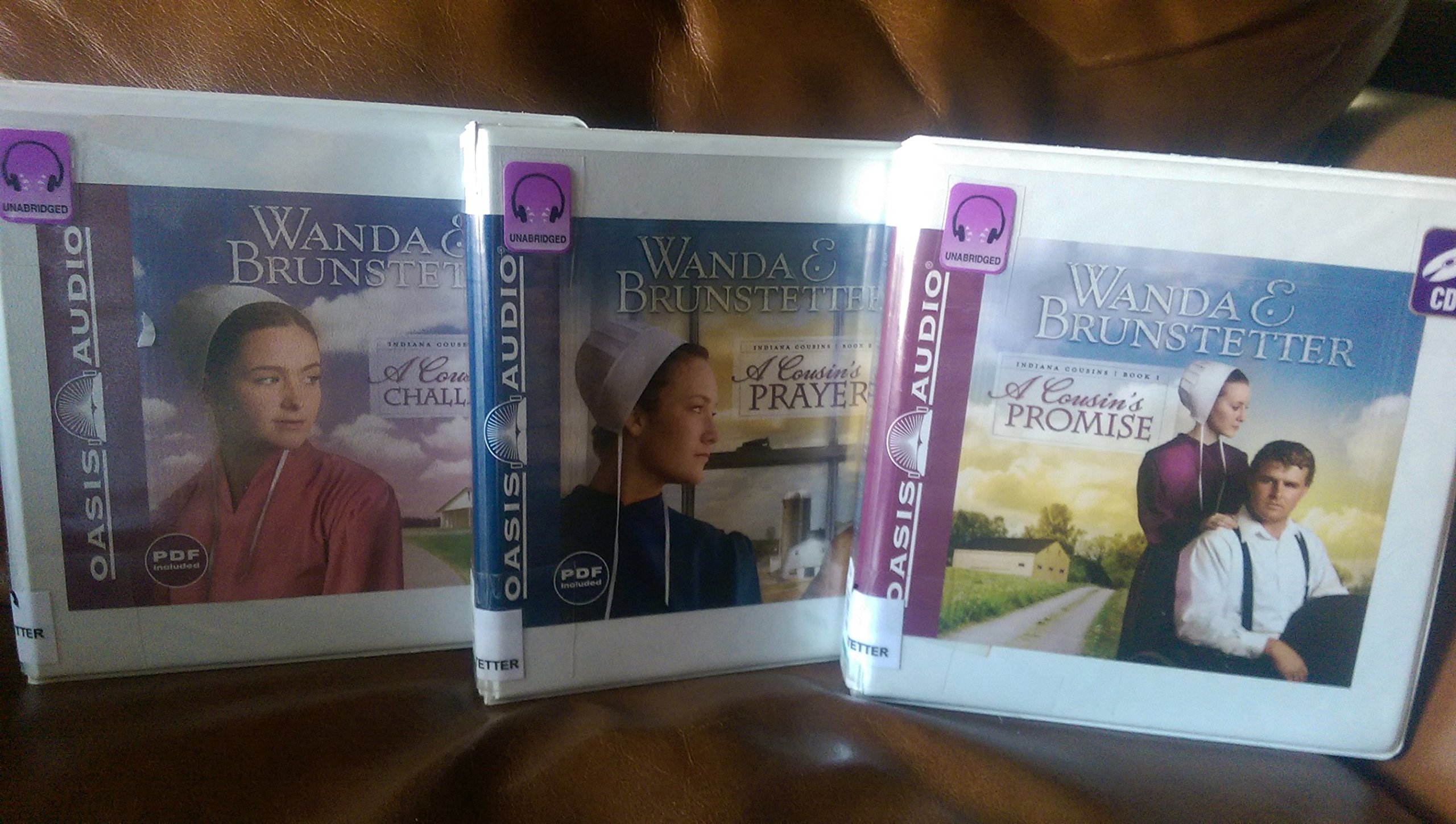 Indiana Cousins Collection 1, 2, 3 Library Edition Audio Books with PDF:  Wanda Bruntstetter, Jill Shellabarger: Amazon.com: Books