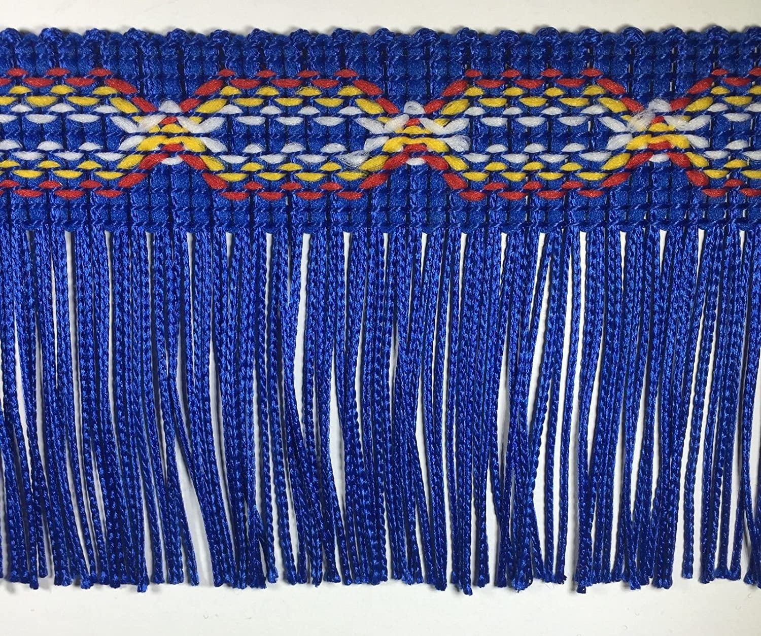 10 CONTINUOUS YARDS BBTRIMSANDRIBBON 3 CHAINETTE FRINGE TRIM MANY STYLES /& COLORS AVAILABLE! ROYAL