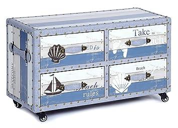 ts-ideen Landhaus Design Kommode Schrank Sideboard mit 4 Schubladen ...