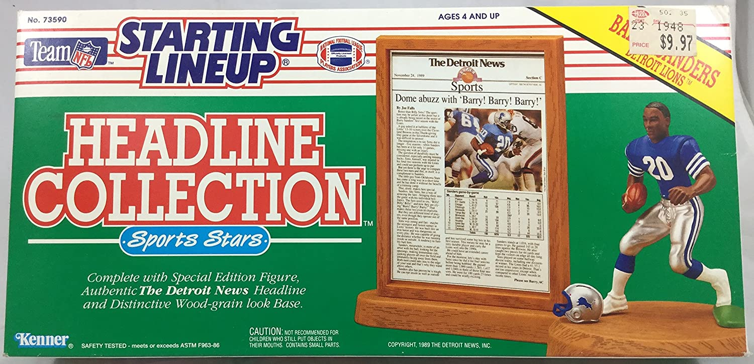 1991 KENNER STARTING LINEUP NFL BARRY SANDERS DETROIT LIONS SEALED IN PACKAGE