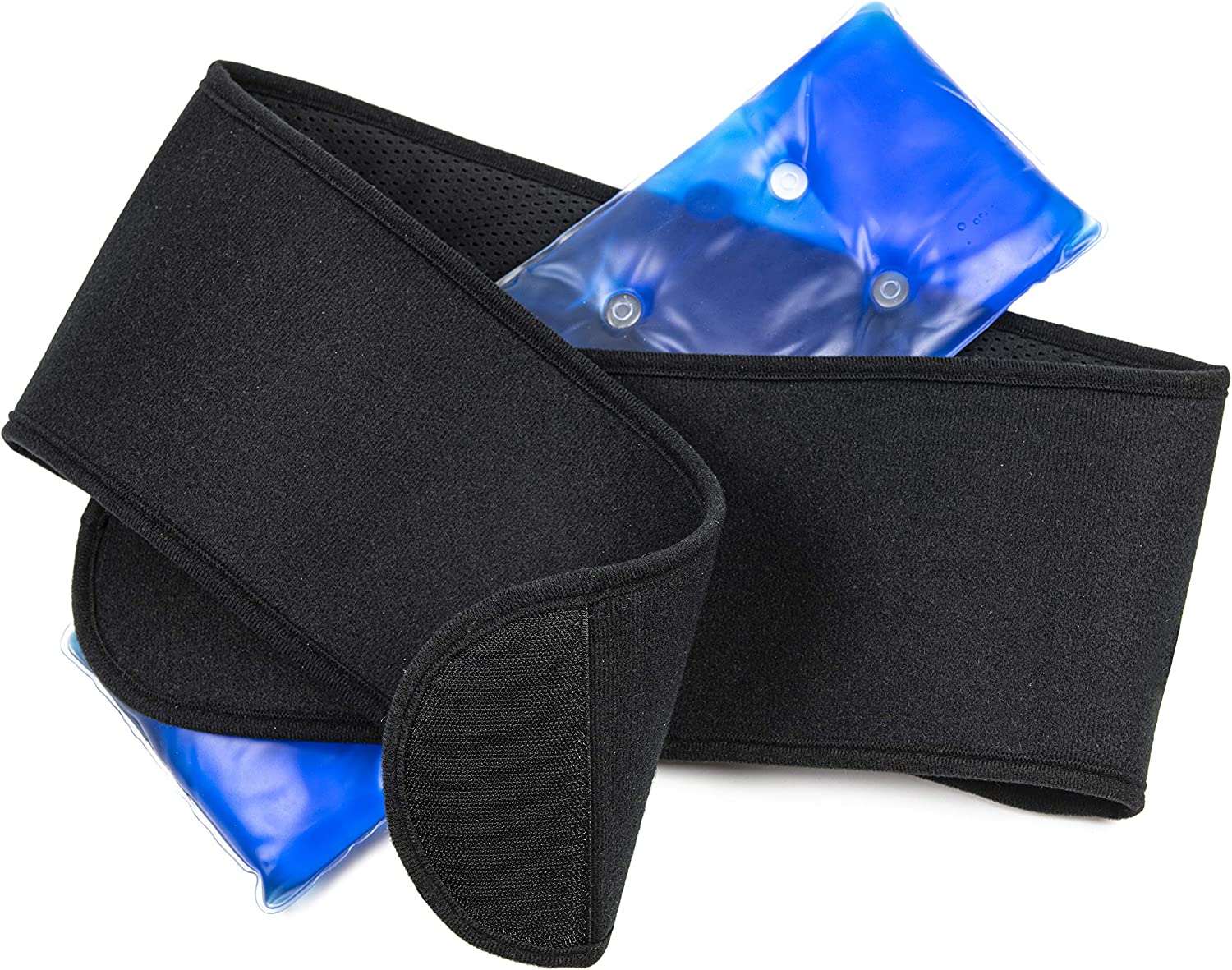 Hot and Cold Gel Pad with Straps - Reusable Ice Treatment for Back Pain Relief and Sports Injuries