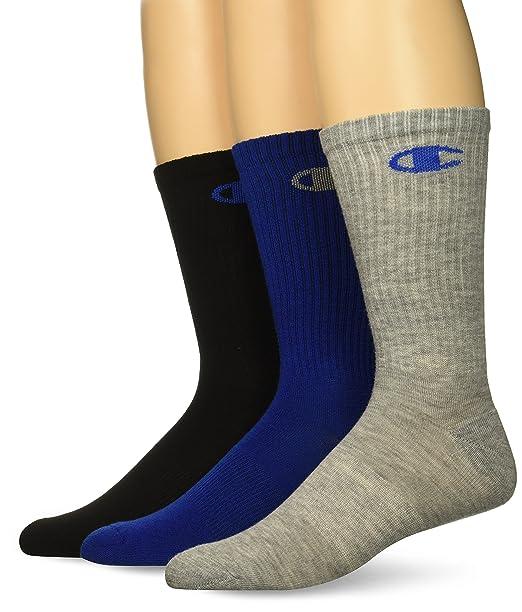 429384cae297b Champion Men's Dyed Crew Socks 3-Pack, blue assortment 6-12 at Amazon Men's  Clothing store:
