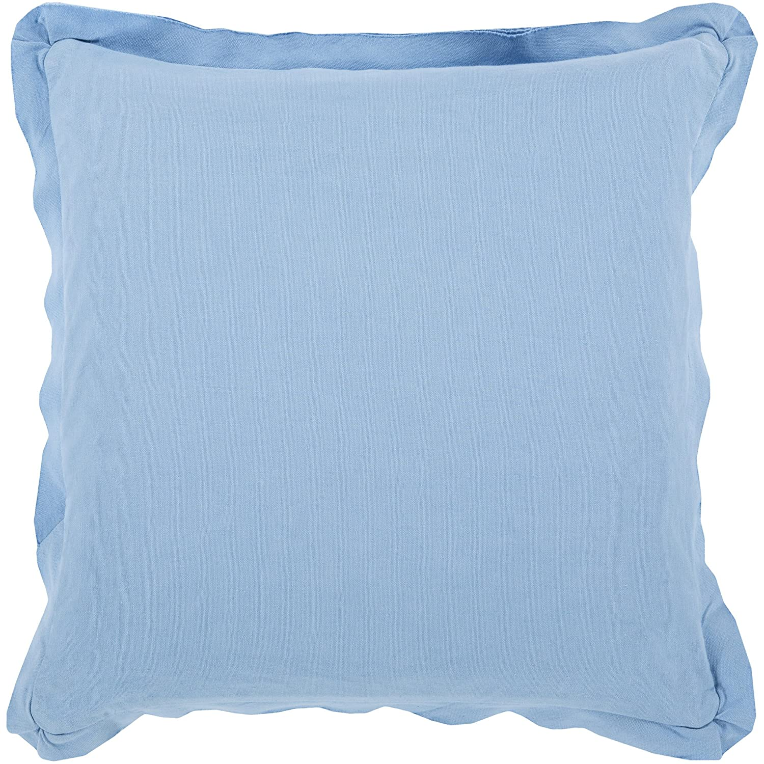 Surya Rug TF002-2222P Square Slate Blue Decorative Poly Fiber Pillow 22 x 22 in.   B00H2KCSPQ