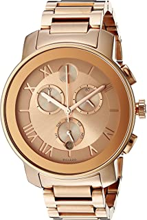 Movado Womens 3600210 Bold Rose Gold-Tone Stainless Steel Bracelet Watch