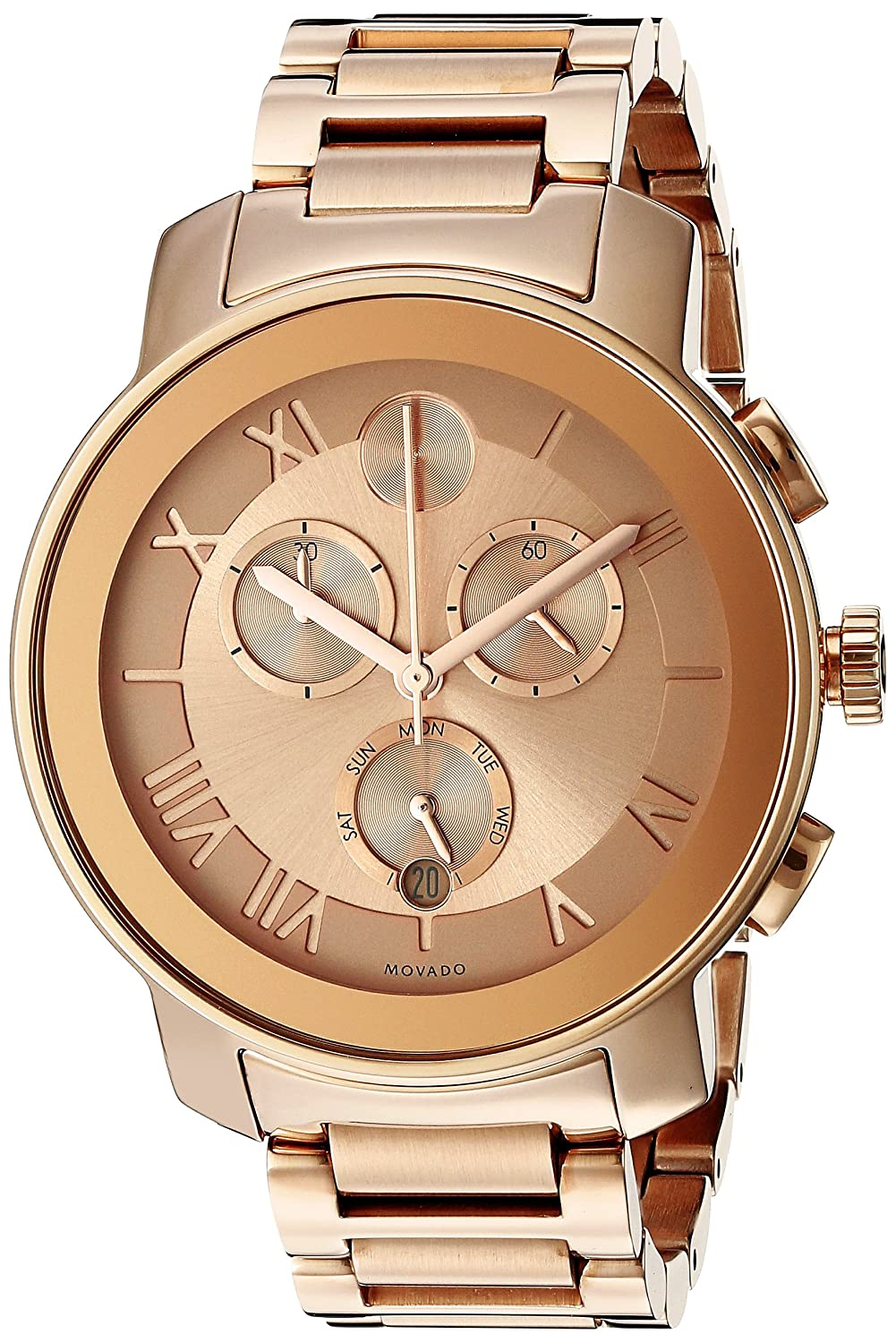 Movado Women s 3600210 Bold Rose Gold-Tone Stainless Steel Bracelet Watch