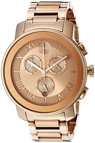 d96e7c2e6 Movado Women's 3600210 Bold Rose Gold-Tone Stainless Steel Bracelet Watch:  Movado: Amazon.ca: Watches