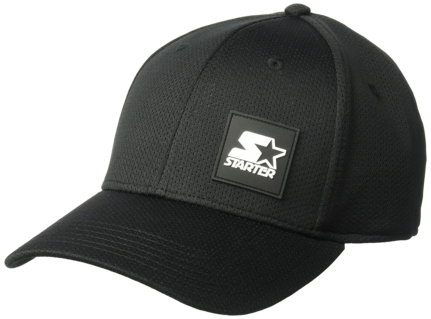 Amazon.com  Starter Men s Fitted Cap with Wicking and Built-in Headband e88cdbe31aa