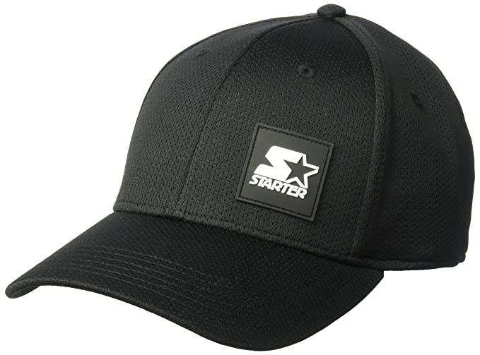 Amazon.com  Starter Men s Fitted Cap with Wicking and Built-in ... 2072319551c6