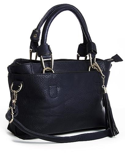 Big Handbag Shop Womens Small Trendy Multi Pockets Satchel Bag ...