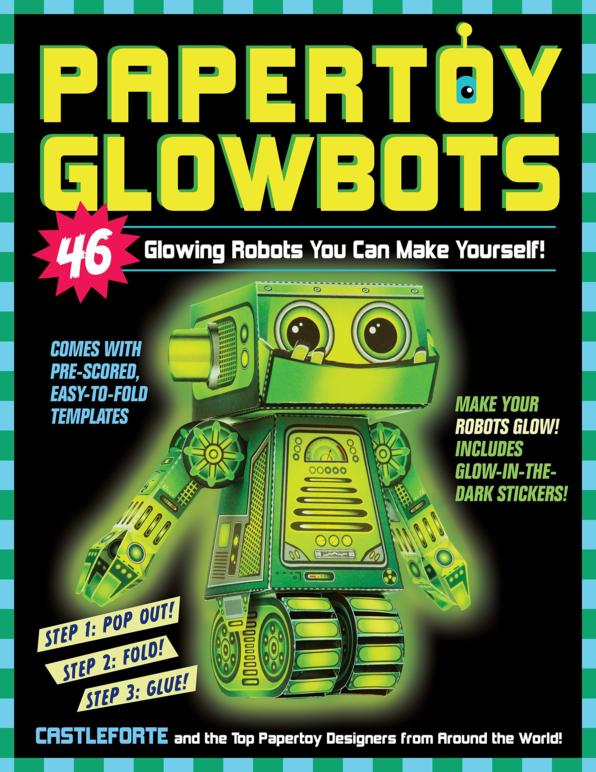 Papertoy Glowbots Glowing Robots Yourself product image