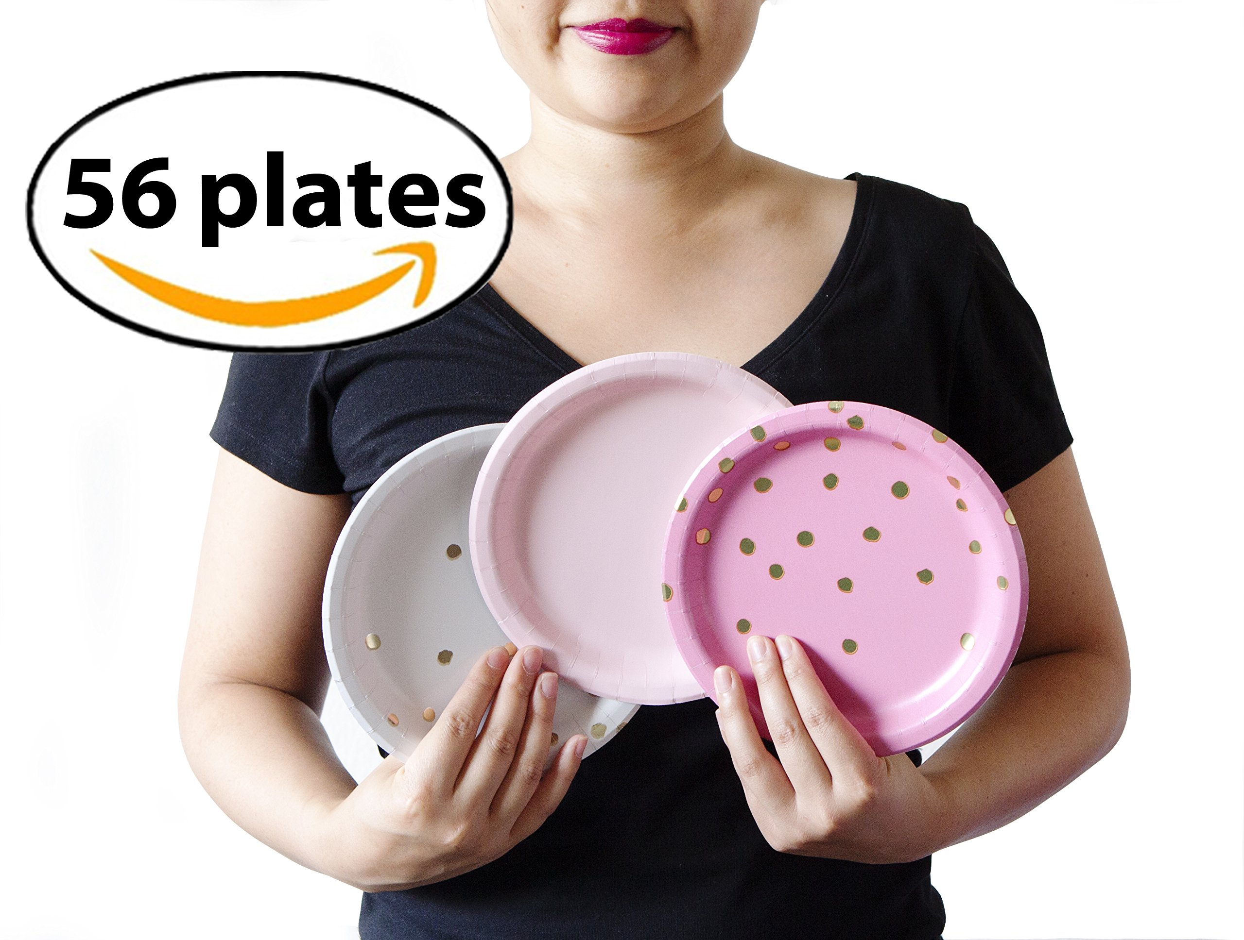 Cute Pink Bachelorette Party Small Plates, 56 Count. for Any Bachelorette Or Girl Party!