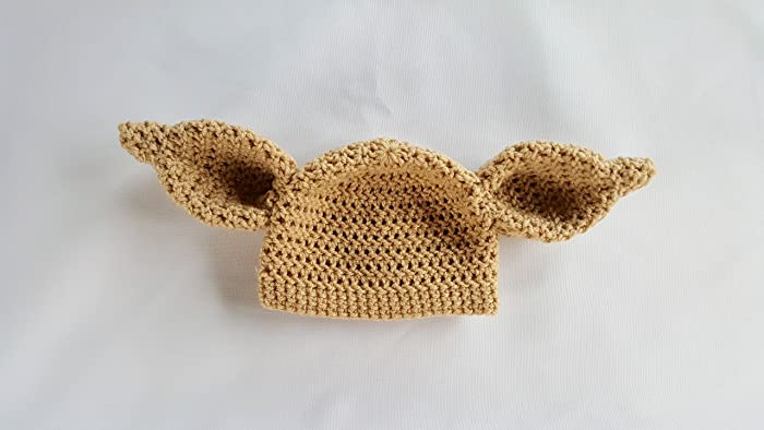 Amazon Crochet Newborn Dobby House Elf Hat Baby Photo Prop Yoda