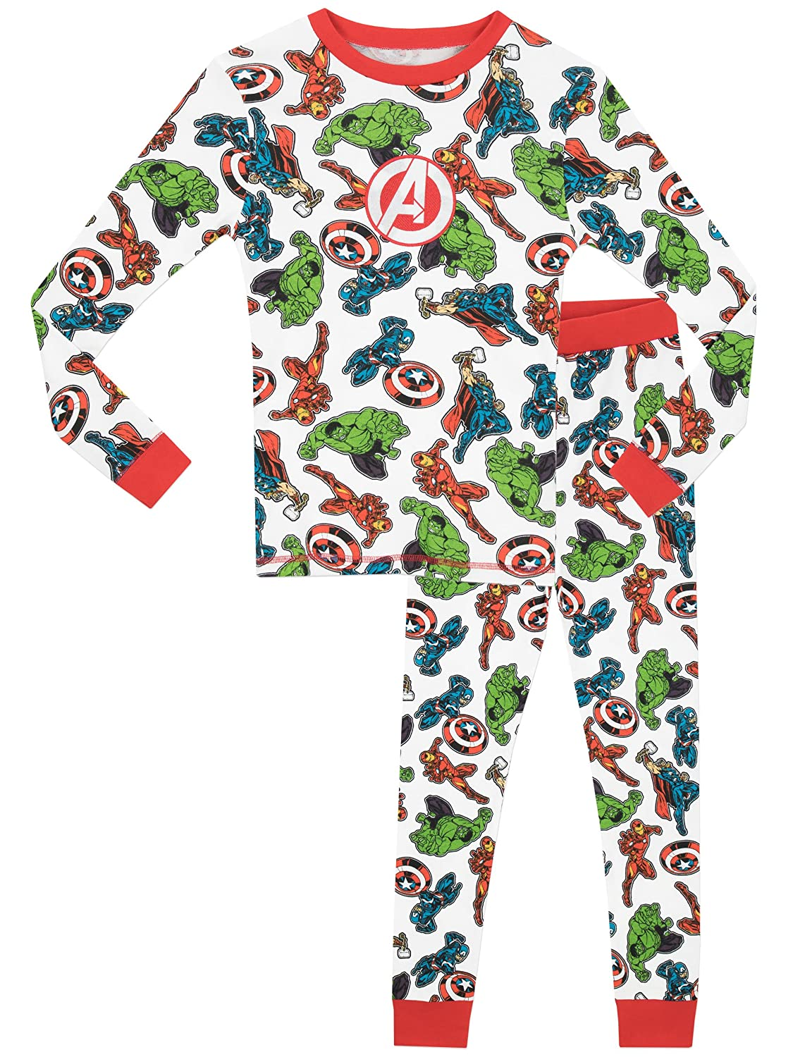 Marvel Boys' Avengers Iron Man Captain America Thor Hulk Pajamas