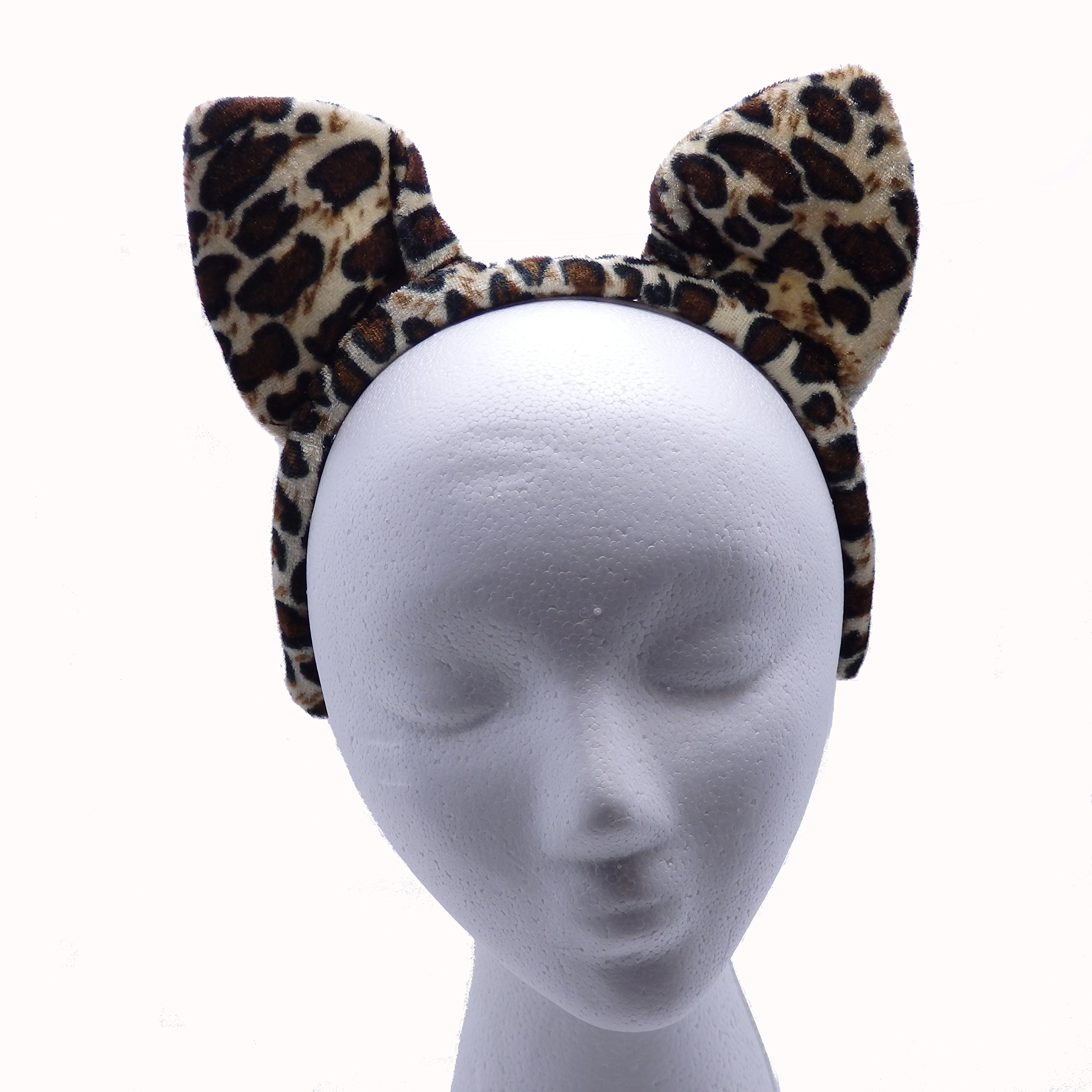 12 Plush Animal Print Ears with Plush Headbands