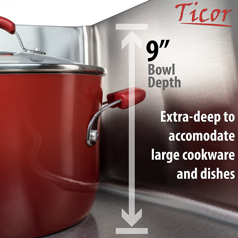 21 Ticor SR22 18-Gauge Stainless Steel Undermount Single Basin Kitchen//Laundry Sink