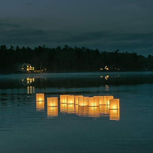 10 Pack 5.9'' Paper Floating Lanterns