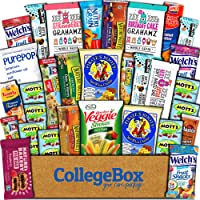 CollegeBox Healthy Care Package (30 Count) Natural Food Bars Nuts Fruit Health Nutritious Snacks Variety Gift Box Pack Assortment Basket Bundle Mix Sampler College Students Office Staff Back to School