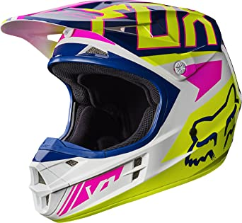 2017 Fox Racing V1 Falcon Helmet-Navy/White-M