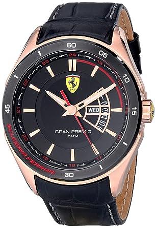 3bdff053f Image Unavailable. Image not available for. Color: Ferrari Men's 0830185 Gran  Premio Analog Display Quartz Black Watch