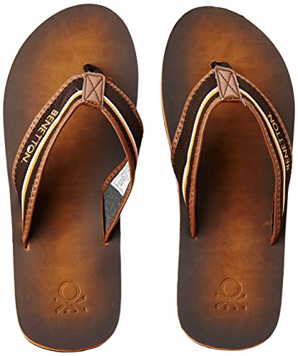 314dadfe71755 United Colors of Benetton Men s Orange Flip-Flops and House Slippers - 10  UK