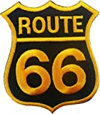 ecusson Route 66 patches Logo Sign Symbol Emblème Ecusson brodé patche Patches gold