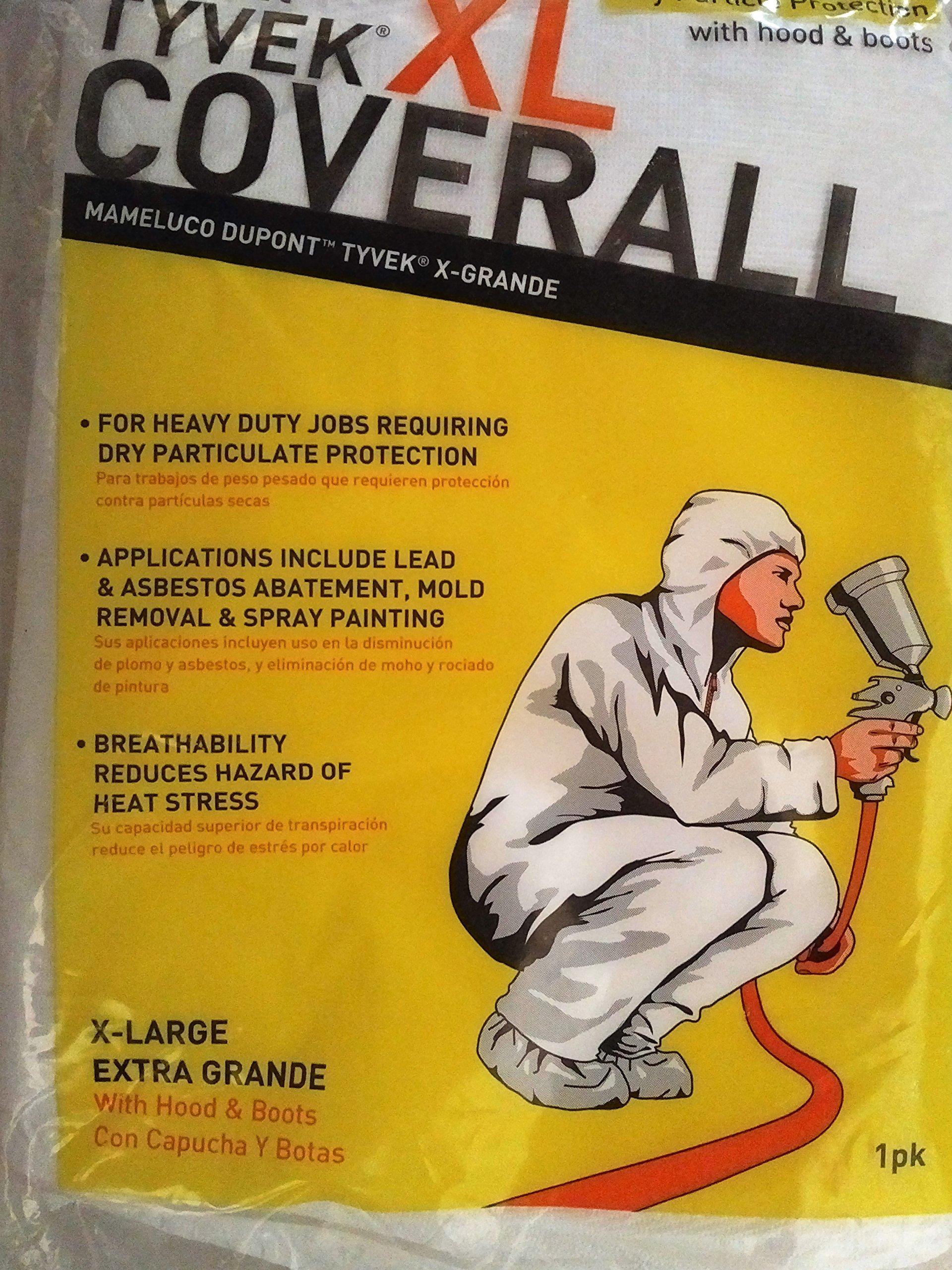 COVERALL TYVEK XL W/B&H by TRIMACO MfrPartNo 141232/12 by Trimaco Inc
