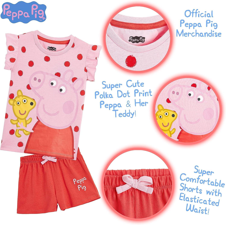Regalos Originales para Ni/ñas Edad 2-6 A/ños Peppa Pig Pijama Ni/ña Pijama Corto Ni/ña para Playa Vacaciones Ropa Ni/ña 100/% Algodon Conjunto 2 Piezas Pijama Ni/ña Verano