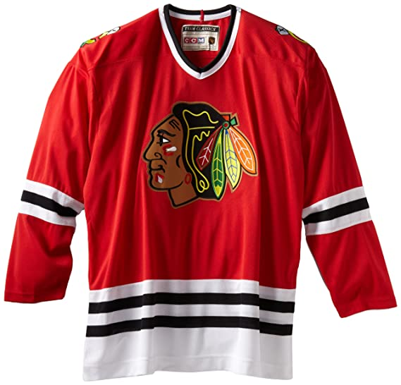 Amazon.com  Chicago Blackhawks Throwback CCM Vintage 7270A Jersey ... 91672b878