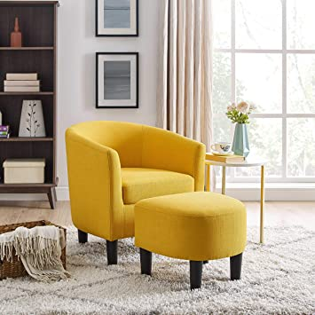 Amazon Com Dazone Modern Accent Chair Upholstered Arm Chair Linen
