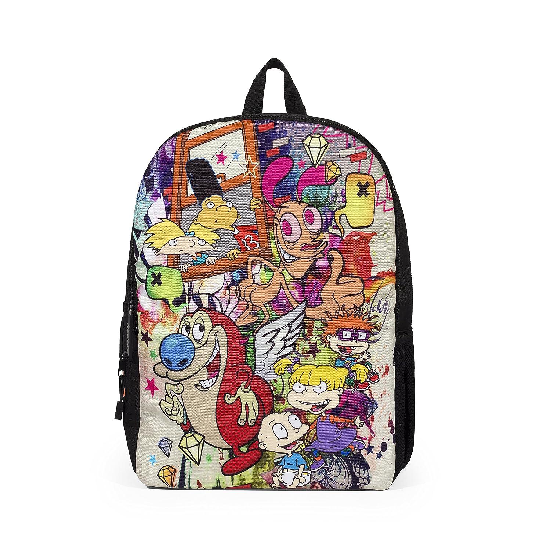 Amazon com mojo life nickelodeon 90s graffiti mashup backpack kids backpacks