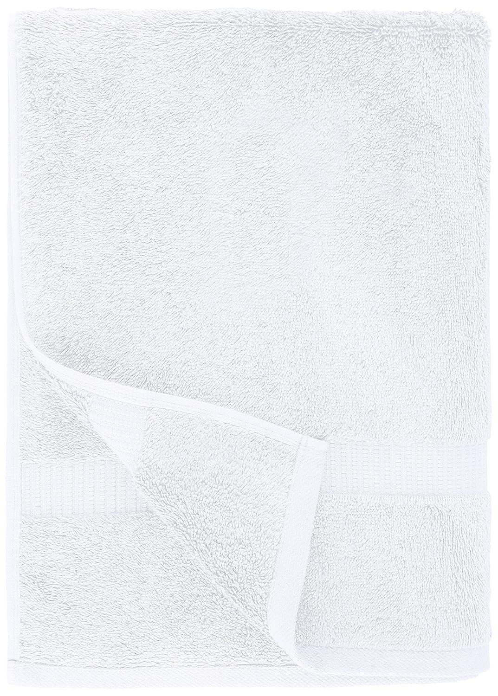 Pinzon - Toallas de baño de mezcla de algodón orgánico, juego de 4, Blanco: Amazon.es: Hogar