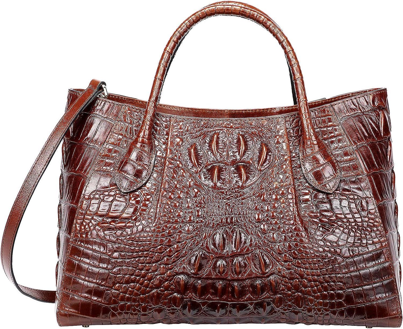 PIJUSHI Women Handbags Crocodile Top Handle Bag Designer Satchel Bags For Women