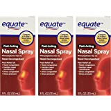 Equate 4-Way Nasal Spray 3-Pack Phenylephrine HCl - 1 fl oz each