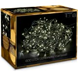 600 LED Catena Luminosa Bianco Caldo 50m + 10m Prolunga Luci Natale Natalizia per Interni/Esterni
