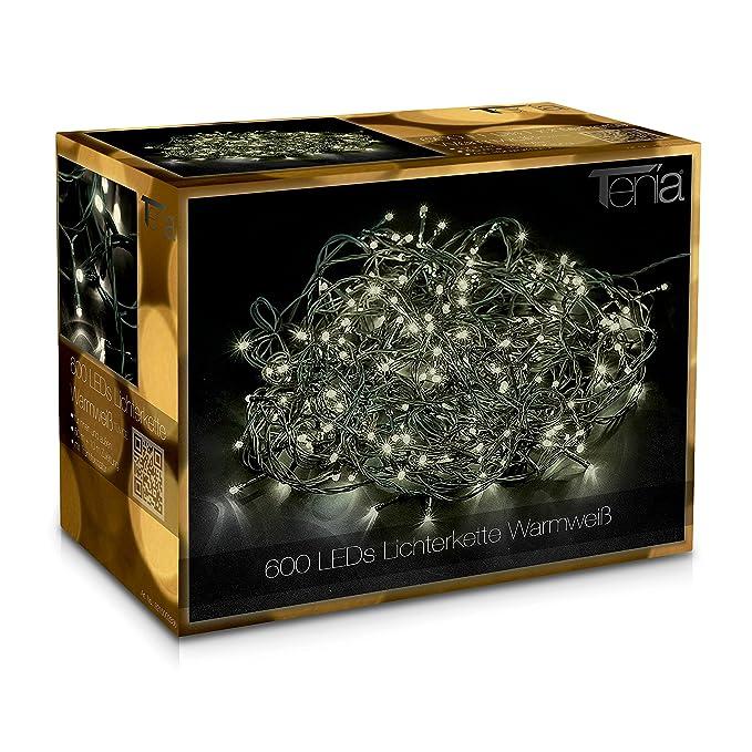 34 opinioni per 600 LED Catena Luminosa Bianco Caldo 50m + 10m Prolunga Luci Natale Natalizia