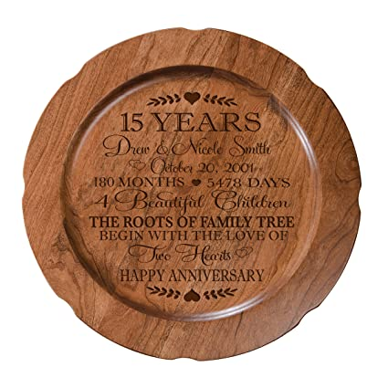 Amazon 15th Wedding Anniversary Plate Gift For Couple 15 Year