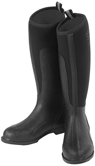 Just Togs Women Mudster Tall Riding Neoprene Boots - Black, Size 6