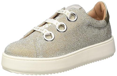 Twin Set CS7PH1, Zapatillas de Estar por casa para Mujer, Dorado (Platino 00189) 40 EU: Amazon.es: Zapatos y complementos