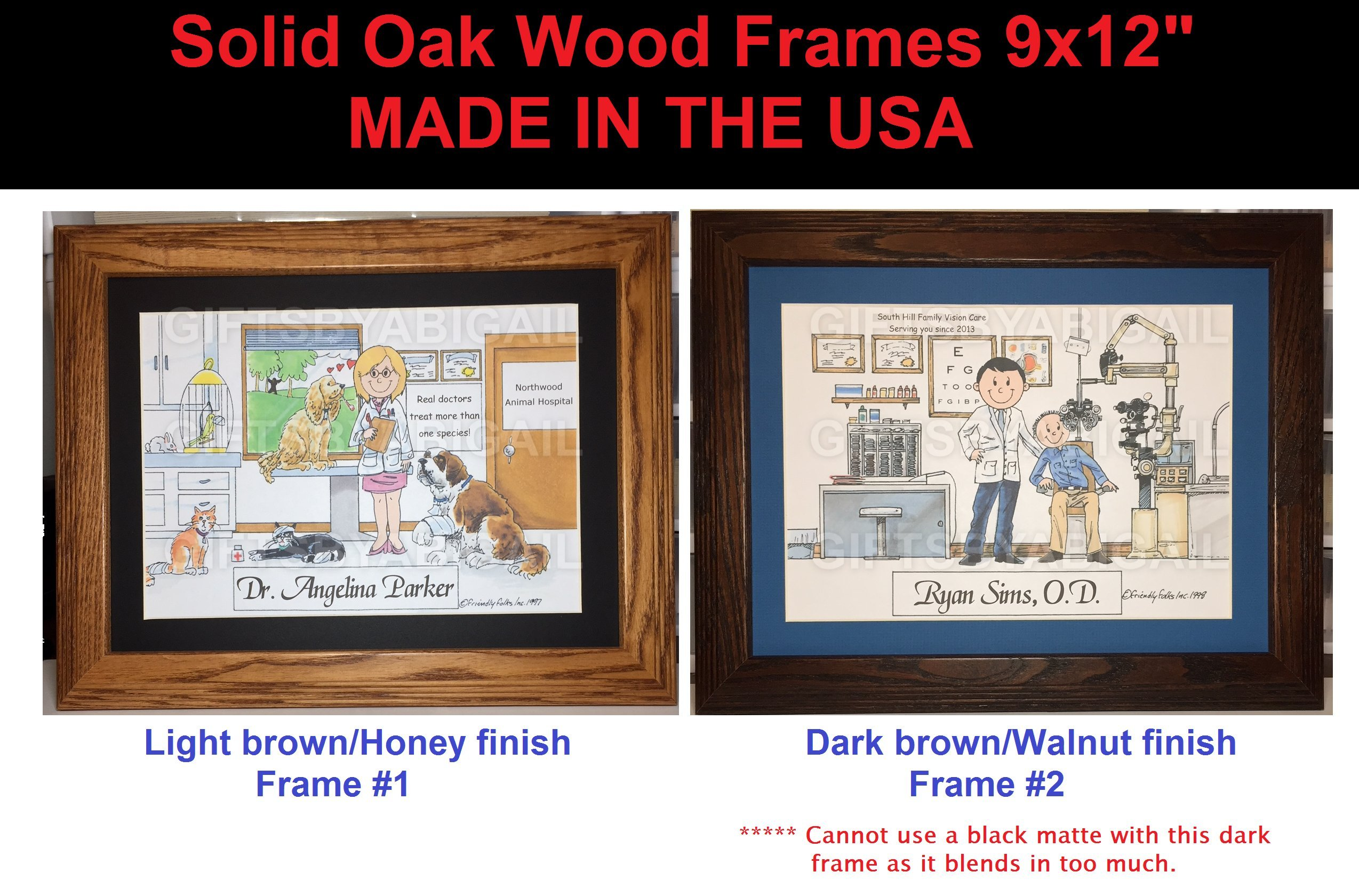 Solid Oak Wood Frame upgrade for personalized print