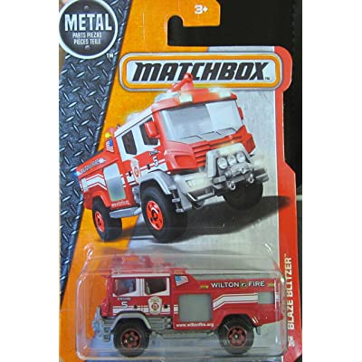Matchbox 2016 MBX Heroic Rescue Blaze Blitzer Fire Engine 76/125, Red: Toys & Games