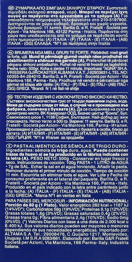 Barilla - Pastas Penne Rigate nº73 500 gr - Pack de 5 (Total 2500 grams): Amazon.es: Alimentación y bebidas