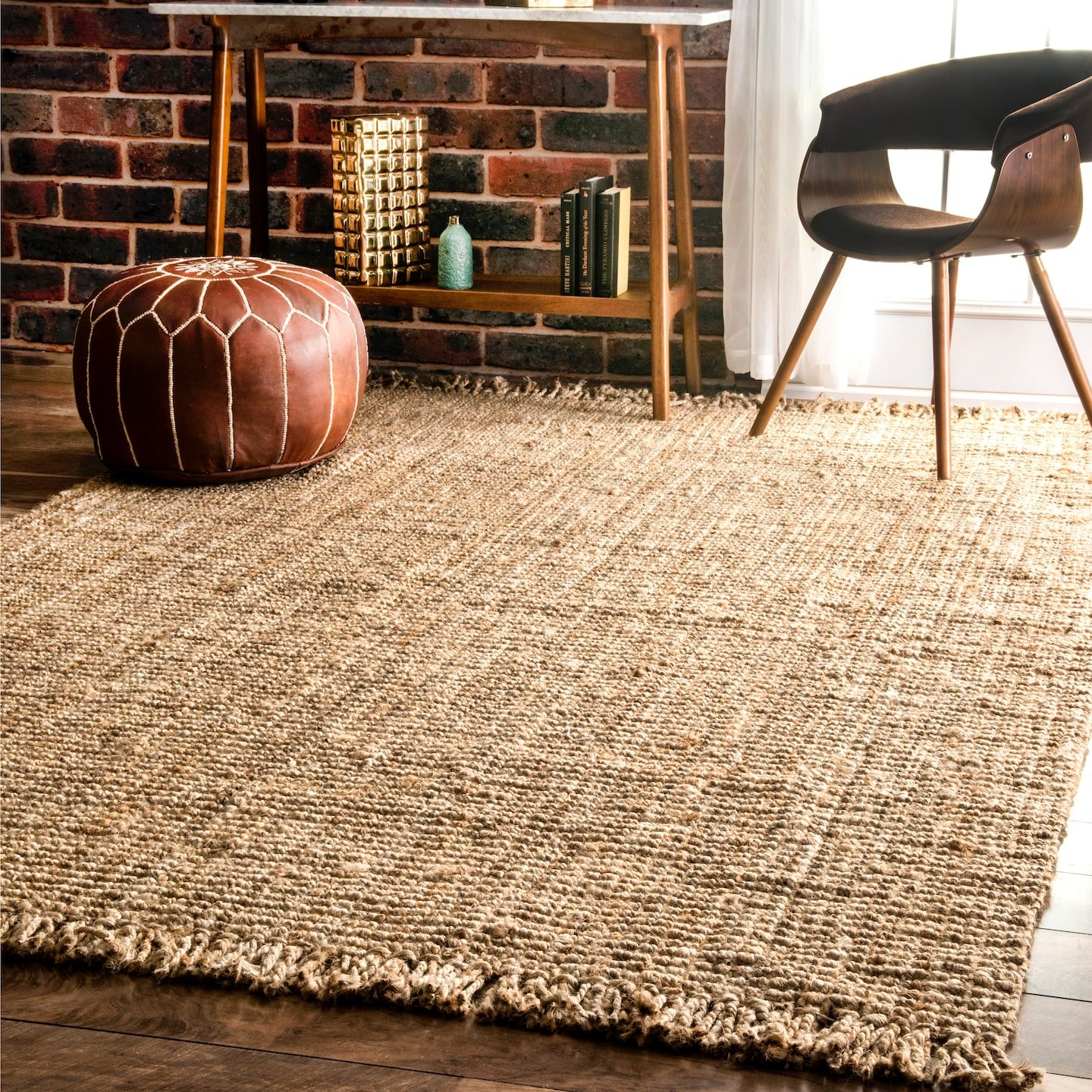 nuLOOM NCCL01 Natura Collection Chunky Loop Jute Casuals Natural Fibers Hand Woven Area Rug, 7' 6'' x 9' 6'' , Beige