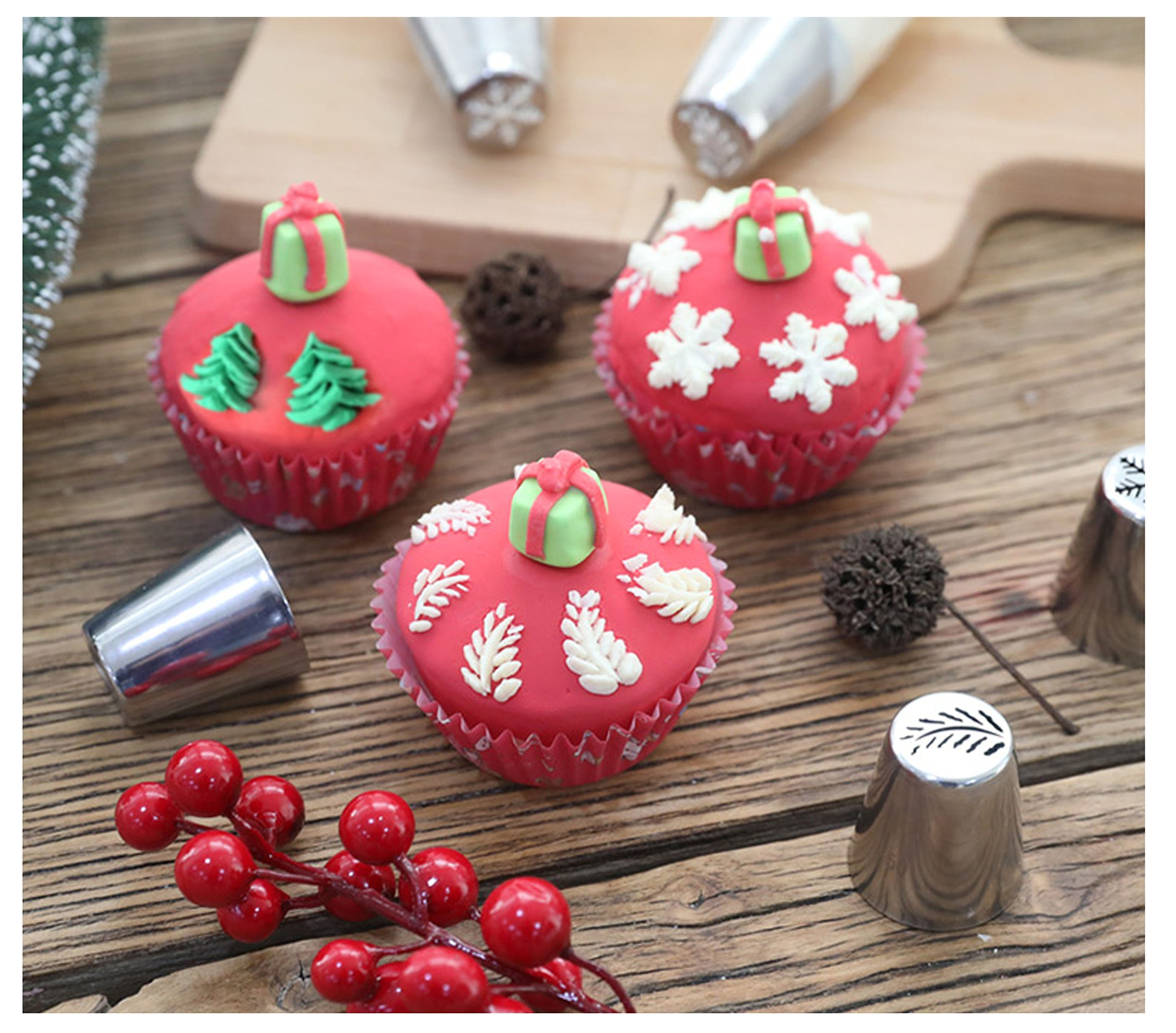 JJMG NEW Russian Icing Piping Tips Christmas Design For Cakes Cupcakes Cookies - Decoration Pastry Baking Tools by JJMG (Image #3)