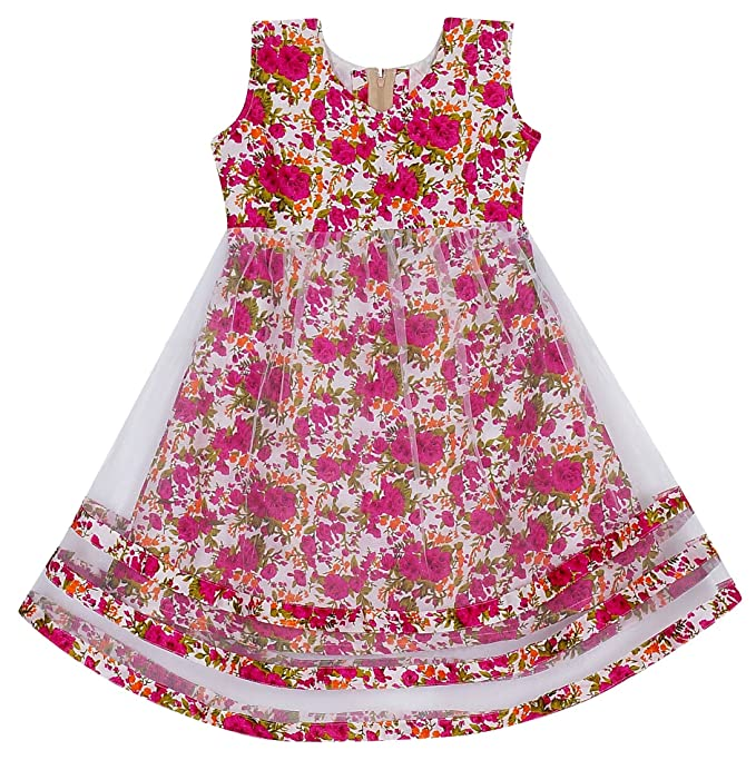 JAnanD Girls Net Dress Multicolour 3 4 Years