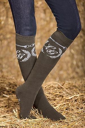 Hkm Mujer – Calcetines de equitación Paris bit Calcetines, Todo el año, Mujer,