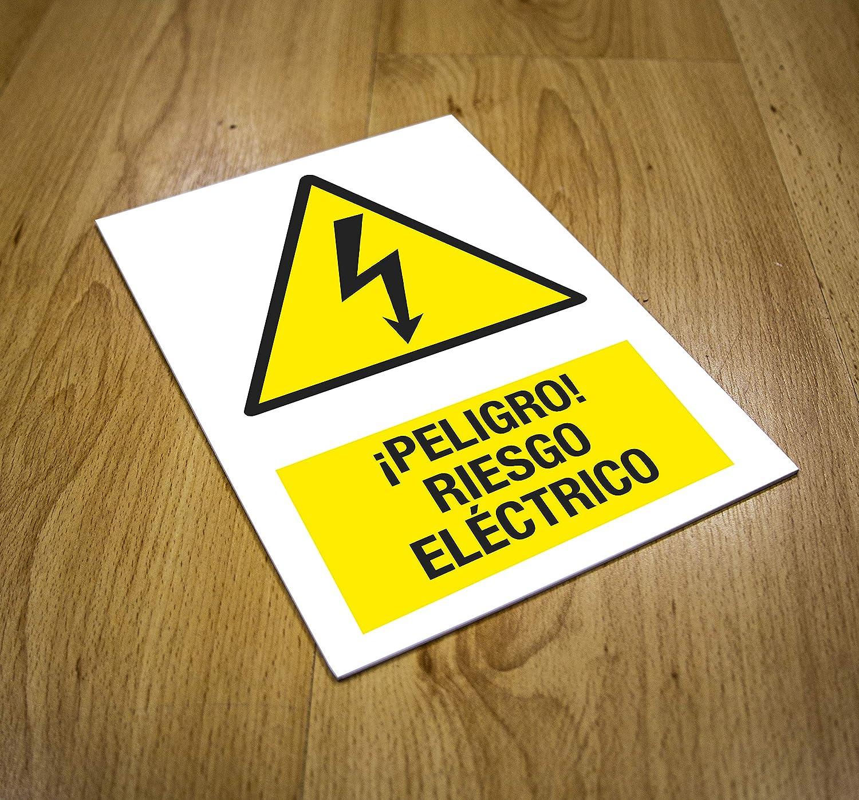 CARTEL RIESGO ELÉCTRICO | Precaución riesgo de descarga ...