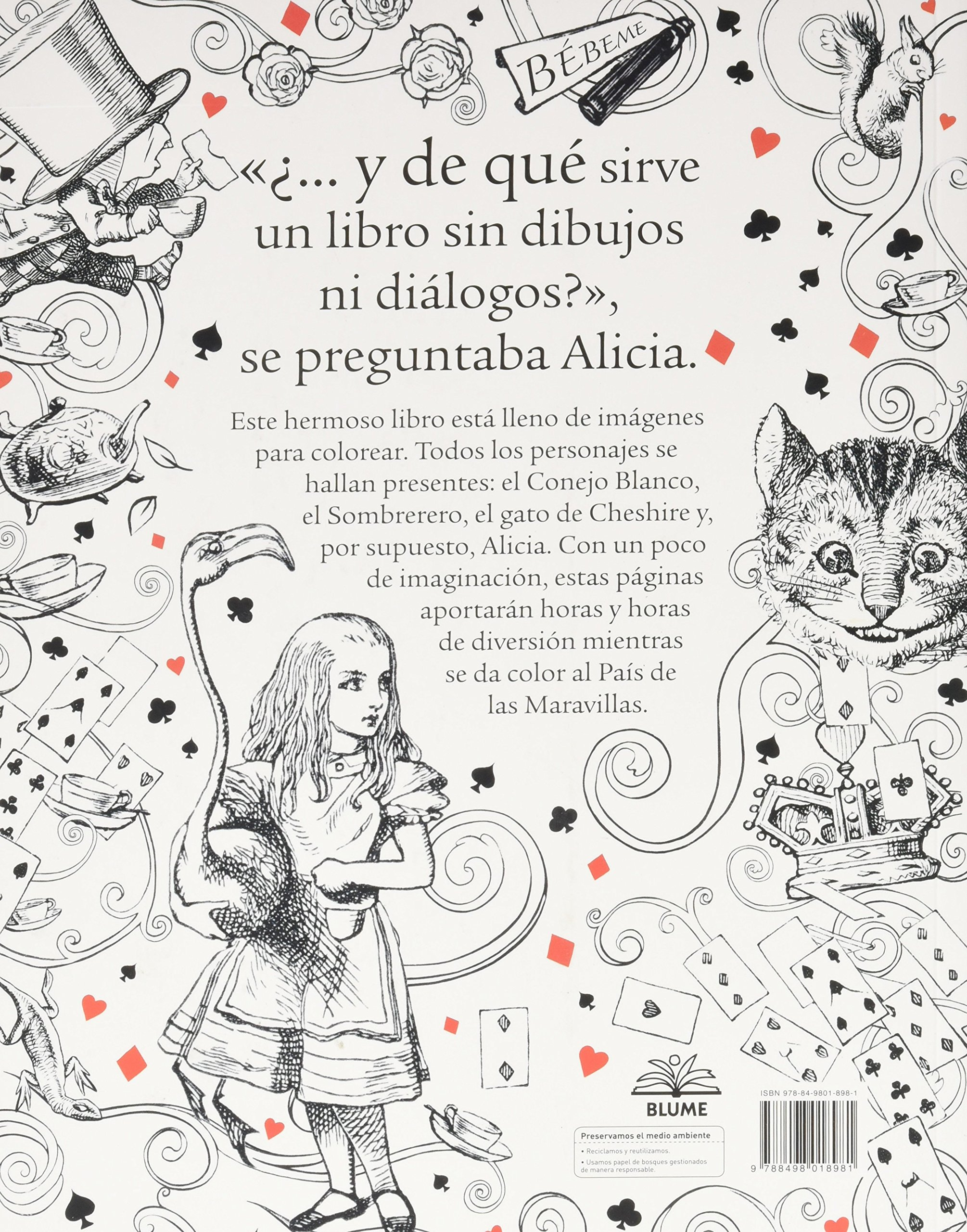 Alicia en el País de las Maravillas: Un libro para colorear: Amazon ...