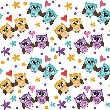 Klebefolie Susses Kinderzimmer Muster Mit Verliebten Eulen